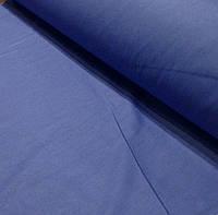 Лоскуток. Хлопковая ткань синего цвета 45*160  №347