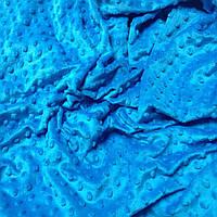 Плюш Minky небесно-синего цвета
