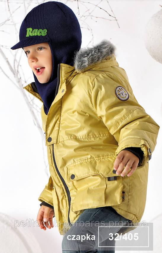 Шапка-шлем с козырьком зимняя Race для мальчика (Польша)