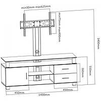 Тумба под телевизор iTECH LK-208L (черн.)