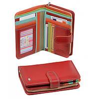 Женский кожаный кошелек, клатч, портмоне Dr Bond. Из натуральной кожи. Цвет красный