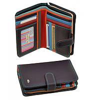 Женский кожаный кошелек, клатч, портмоне Dr Bond. Из натуральной кожи. Цвет фиолетовый