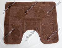 """Коврик для туалета 42,5х55 см """"Рыбки"""" с вырезом, цвет коричневый"""