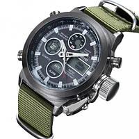 Кварцевые мужские часы  AMST Mountain Green