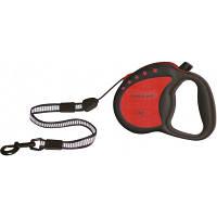 Рулетка Collar control ручка-комфорт со светоотражающей лентой красная 81173, 20 кг, 8 м