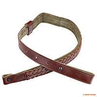 Ремень для охотничьего ружья Allen, из плетённой кожи коричневого цвета