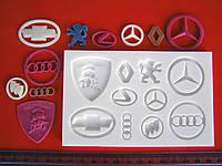 """Молд для мастики силиконовый """"Логотипы автомобилей"""""""