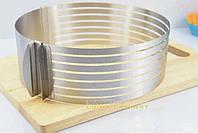 Форма-кольцо для нарезки коржей раздвижная