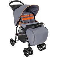 Детская коляска Graco MIRAGE+ с чехлом для ног Neon grey цвет серый/оранжевый