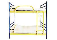 Двухъярусная металлическая кровать с каркас-сеткой Азимут