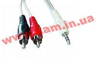 Аудио-кабель Gembird CCA-458-10 3,5mm/ 2xRCA M, 10m Gembird CCA-458-10M, 3.5mm to 2xRCA (CCA-458-10)