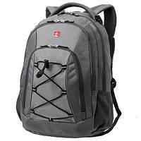 Рюкзак WENGER цв. т. серый/св. серый, полиэстер 900D, 33х19х45 см