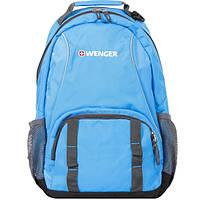 Рюкзак WENGER цв. голубой/серый, полиэстер, 32х14х45 см