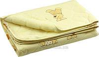 Детское одеяло Руно овчина-хлопок бежевое 105х140 см