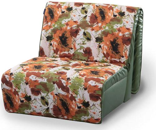 Кресло кровать Акварель 0,9 дизайн цветы