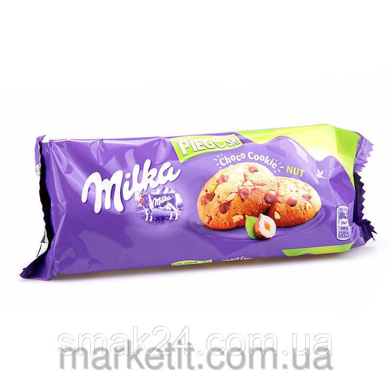 Печенье Milka с кусочками шоколада и орехом Польша 135г