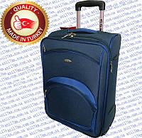 Большой турецкий чемодан на двух внутренних прорезиненных колёсах фирмы CCS d13b7c089c1