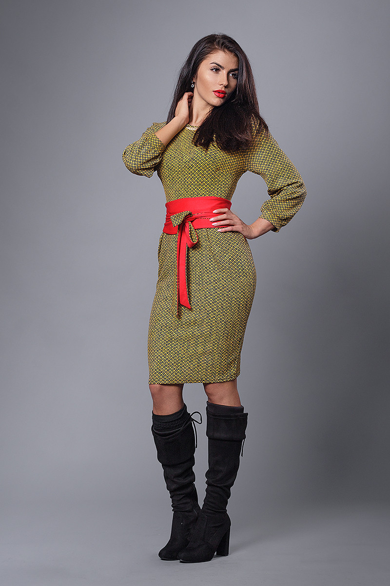 Платье мод №272-4, размеры 52 горцица