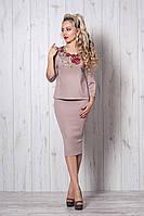 Костюм мод №507-3, размеры 40-42 капучино