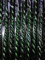 Свеча декоративная, витая, зеленая , фото 1