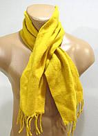 Шарф шерстяной желтый