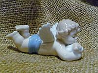 """JP-35/ 7 Фарфорвоая статуэтка декоративная фигурка ангела """"Неразлучные друзья"""" Pavone 9 сантиметров высота"""