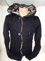 Кофта мужская Lee'Ecosse на пуговицах, 2 кармана с капюшоном, 001/ купить оптом свитер зимний