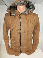Кофта мужская Lee'Ecosse на пуговицах, 2 кармана с капюшоном, 002/ купить оптом свитер зимний