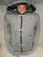 Кофта мужская Lee'Ecosse на пуговицах, 2 кармана с капюшоном, 003/ купить оптом свитер зимний