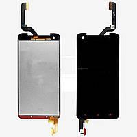 Дисплей (LCD) HTC X920d Butterfly с сенсором черный
