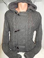 Кофта мужская Lee'Ecosse на пуговицах + змейка, 2 кармана с капюшоном, 004/ купить оптом свитер зимний