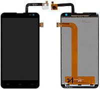 Дисплей (LCD) Fly IQ4514 Quad EVO Tech 4 с сенсором черный