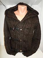 Кофта мужская Lee'Ecosse на пуговицах + змейка, 2 кармана, с капюшоном, 001/ купить оптом свитер зимний