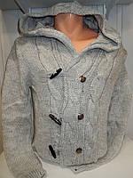 Кофта мужская Lee'Ecosse на пуговицах + змейка, 2 кармана, с капюшоном, 003/ купить оптом свитер зимний
