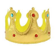 Корона карнавальная короля золотистая