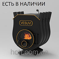 Печь калориферная «Vesuvi» «02» с варочной поверхностью и стекло или перфорация