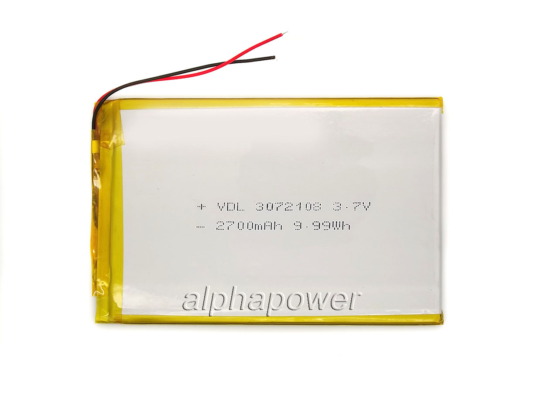 2700mAh 3.7v 3072108 Аккумулятор для планшета
