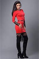 Красивое платье с вставками гипюра