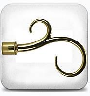 Крюк двойной д.16мм золото