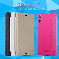 Кожаный чехол Nillkin Sparkle для Sony Xperia XZ (4 цвета)
