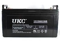 Аккумулятор гелевый 12V UKC 120 Ah, герметизированный, низкий саморазряд, защита от вздутия, перегрева