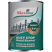 Краска по металлу молотковая Maxima черная 0,75 L