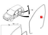 Уплотнитель передней двери  Авео Т200 96541728