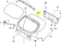 Уплотнитель крышки багажника Ланос хэтч 96250362