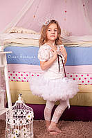 Пышная детская юбка Белая