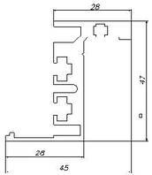 Коробка интерьерная Z-образная