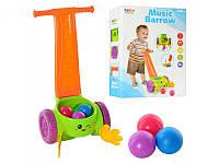 Каталка музыкальная (аналог Fisher-price) 5820 собирает шарики