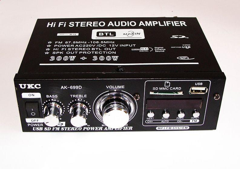 Усилитель стерео AMP 699 BT UKC интегральный усилитель с поддержкой USB флешек