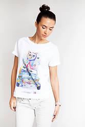 Женские молочные футболки. Коллекция Акварельные персонажи BeU