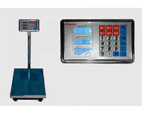 Весы торговые до 150 кг ACS 40х50 Domotec 6 V с железной головой, усиленной площадки, ЖК дисплей